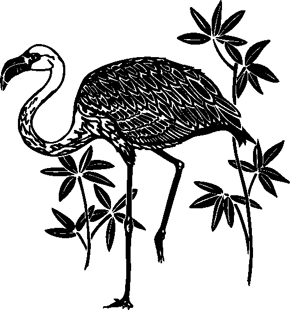 FLAMINGO DECAL