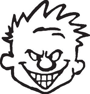 Calvin face decal