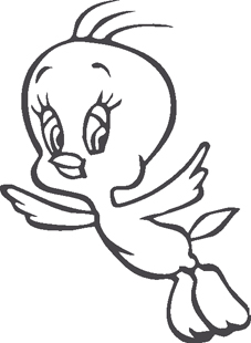 Baby Tweedy Bird decal