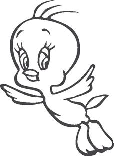 Baby Tweedy Bird decal