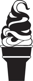 ice cream cone decal