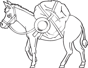 working donkey decal