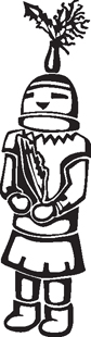tribal figure decal