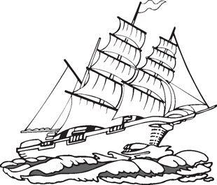 tall ship decal