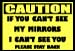 "Caution 12""x10""  Vinyl Decal"
