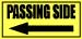 "Passing side 12""x5.75"" Vinyl decals"