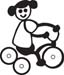 Stick Family Girl Riding Bicycle