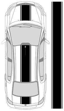 """18"""" triple rally stripe"""
