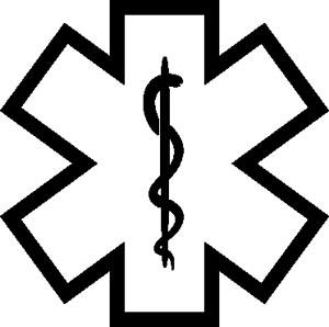 Star Of Life Symbol Decal