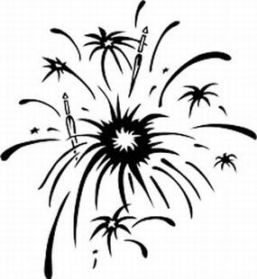 Fireworks decal