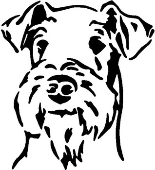 Airedale Terrier Head_1