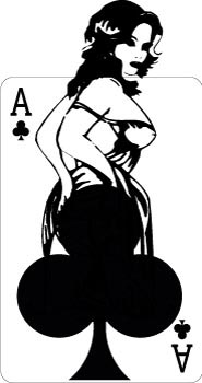 Ace of clubs decal