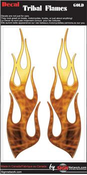 Gold Tribal Flames Set