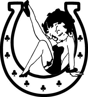 Horseshoe Betty Boop